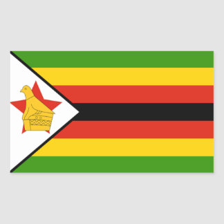 Flag of Zimbabwe Rectangular Sticker