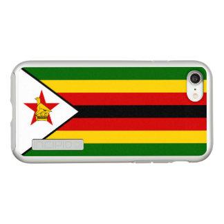 Flag of Zimbabwe Silver iPhone Case