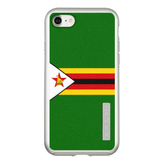 Flag of Zimbabwe Silver iPhone Case