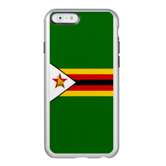 Flag of Zimbabwe Silver iPhone Case Incipio Feather® Shine iPhone 6 Case