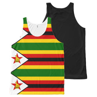 Flag of Zimbabwe - Zimbabwean - Mureza weZimbabwe All-Over Print Singlet