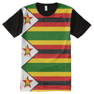 Flag of Zimbabwe - Zimbabwean - Mureza weZimbabwe All-Over Print T-Shirt