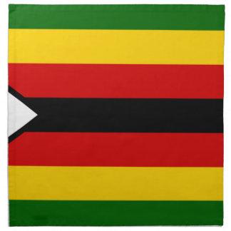 Flag of Zimbabwe - Zimbabwean - Mureza weZimbabwe Napkin