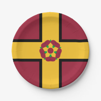 Flag on Northamptonshire Paper Plate