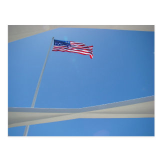 Flag over the Arizona Memorial Postcard