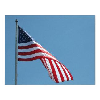 Flag!  Patriotic colors! 11 Cm X 14 Cm Invitation Card