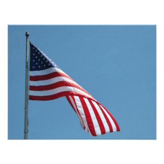 Flag Patriotic colors Personalized Invitations