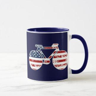 flag patriotic United States of America biking
