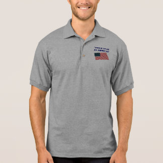 """Flag, """"Proud to be an American"""" Polo T-shirts"""