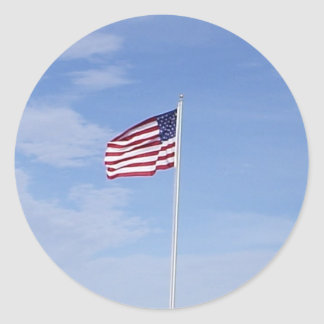 Flag Proudly Waving USA Sticker