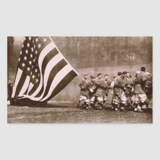 Flag Raising Ceremony 1914 Ebbets Field Rectangular Sticker