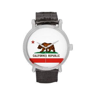 flag region state united america california wristwatch