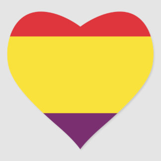 Flag Republic of Spain - Bandera República España Heart Sticker