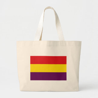 Flag Republic of Spain - Bandera República España Large Tote Bag