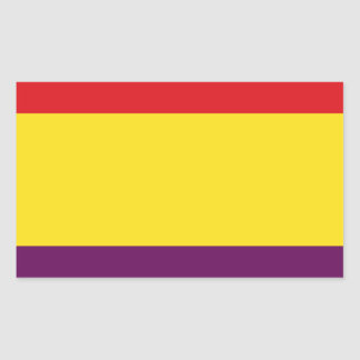Flag Republic of Spain - Bandera República España Rectangular Sticker