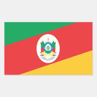 Flag Rio Grande Do Sul Brazil Rectangular Sticker