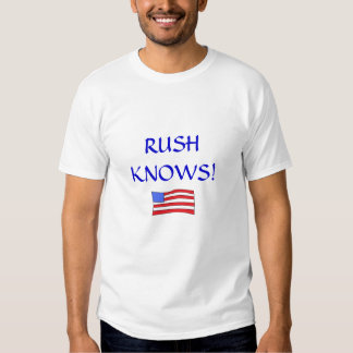 Flag, RUSH KNOWS! T Shirts