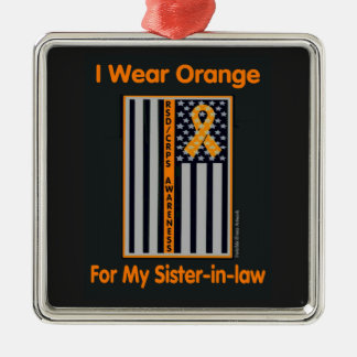 Flag/Sister-in-law...RSD/CRPS Silver-Colored Square Decoration