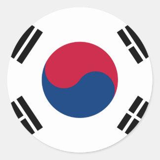 Flag South Korea 대한민국 Classic Round Sticker