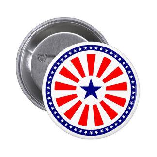 Flag sticker 2 inch round button