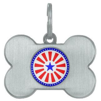 Flag sticker pet ID tag