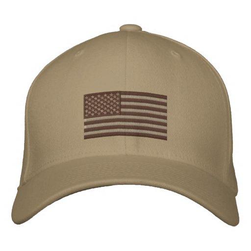 Flag - Subdued Desert Embroidered Hat