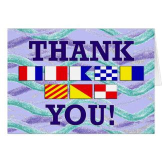 Flag Thanks Notecard Card