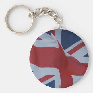 flag union jack basic round button key ring