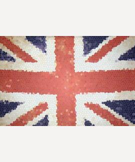 Flag Union Jack United Kingdom mosaic T Shirts