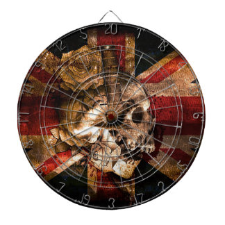 Flag United Kingdom England London Grunge Dartboard