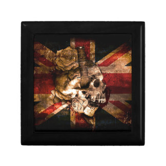 Flag United Kingdom England London Grunge Gift Box