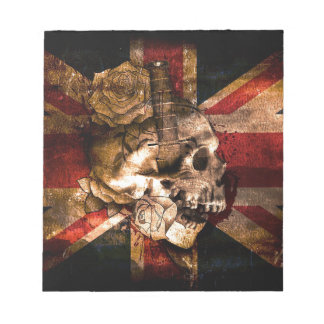 Flag United Kingdom England London Grunge Notepad
