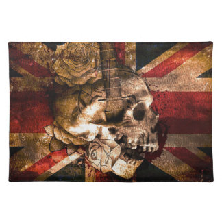 Flag United Kingdom England London Grunge Placemat