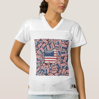 Flag_United_States_by_JAMColors Women's Football Jersey
