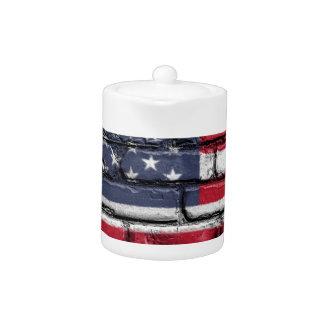 Flag Usa America Wall Painted American Usa Flag
