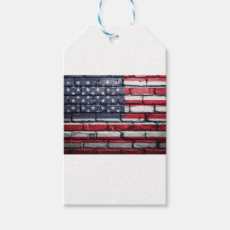 Flag Usa America Wall Painted American Usa Flag Gift Tags