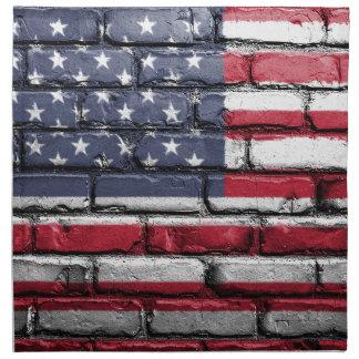 Flag Usa America Wall Painted American Usa Flag Napkin