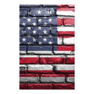 Flag Usa America Wall Painted American Usa Flag Stationery