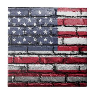 Flag Usa America Wall Painted American Usa Flag Tile