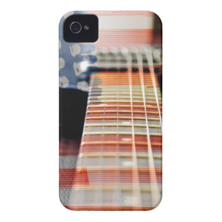 Flag Usa Banner Guitar Electric Guitar Case-Mate iPhone 4 Case