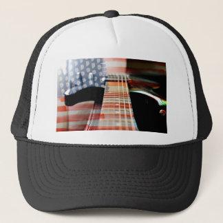 Flag Usa Banner Guitar Electric Guitar Trucker Hat