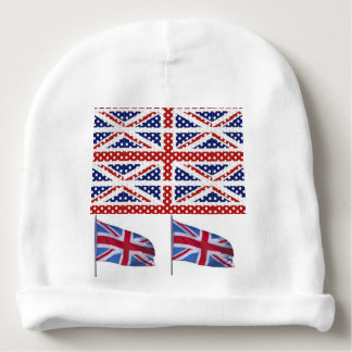 Flag USA British Patriotic stars stripes eagle Baby Beanie