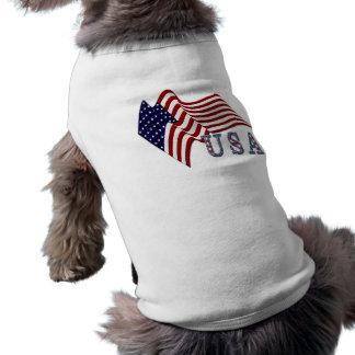 Flag USA Doggie T Shirt