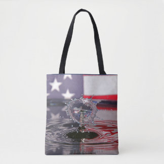 Flag Water Drop Tote