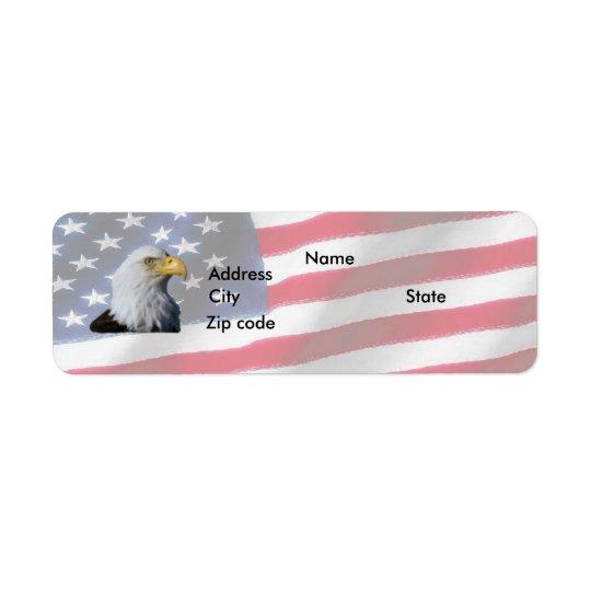 Flag with Eagle Return Address Label