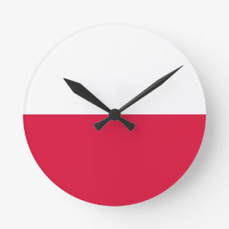 Flaga Polski - Polish Flag Round Clock