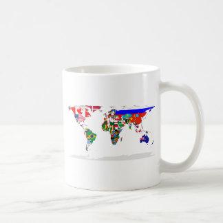 flagged world basic white mug