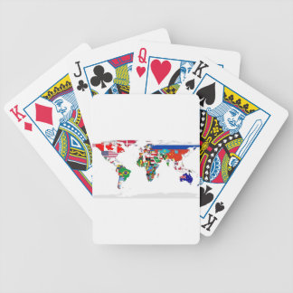 Flagged World - Map of Flags of the World Bicycle Playing Cards