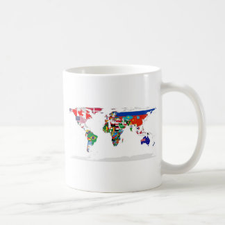Flagged World - Map of Flags of the World Coffee Mug