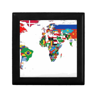 Flagged World - Map of Flags of the World Gift Box
